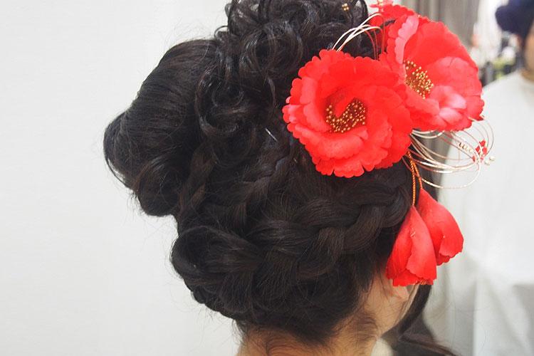 振袖の柄から選ぶ髪型!成人式写真におすすめの髪型カタログとやり方15