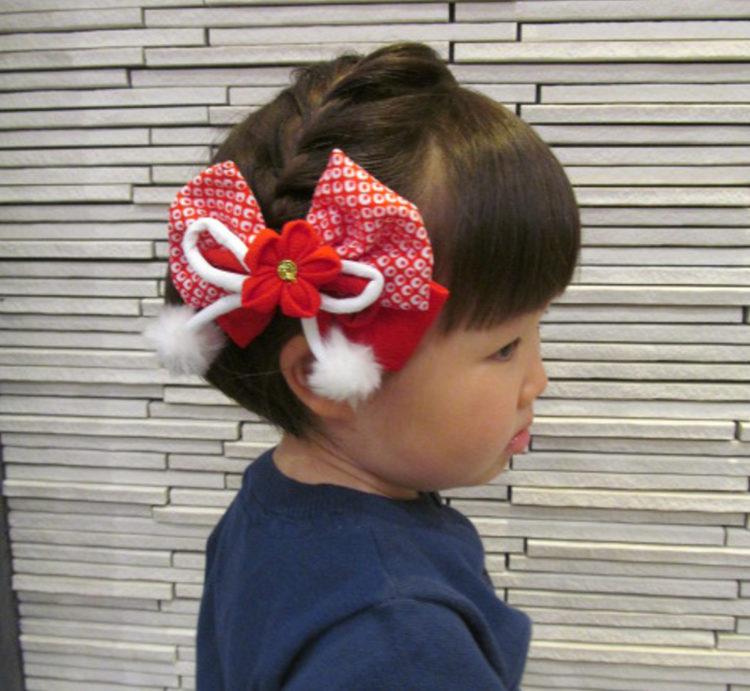 【七五三写真】3歳女の子のかわいい髪型とママでも簡単なお家でのセット方法4