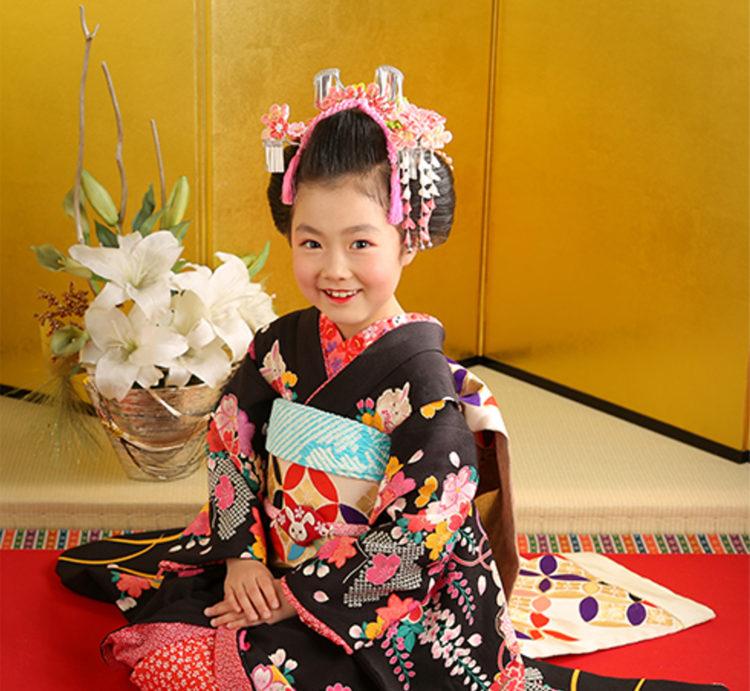7歳女の子のおしゃれな七五三写真の髪型とセルフセット方法を長さ別に紹介7