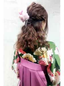 ロングの卒業袴写真におすすめの髪型とセルフセットのやり方&アレンジ5