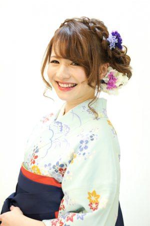 ロングの卒業袴写真におすすめの髪型とセルフセットのやり方&アレンジ4
