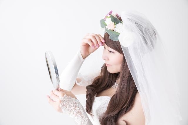 ミディアムの花嫁に人気のフォトウェディング髪型スタイル&髪飾り6