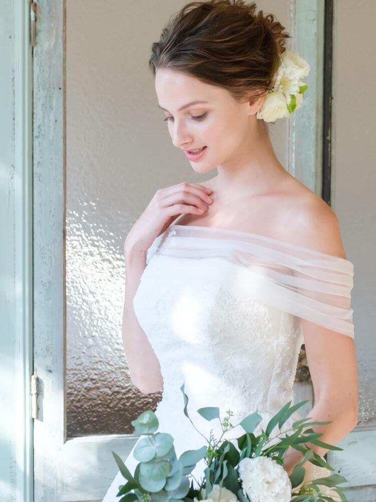 フォトウェディングの花嫁ドレス|形・色・ブランド・体型・年代別の選び方27