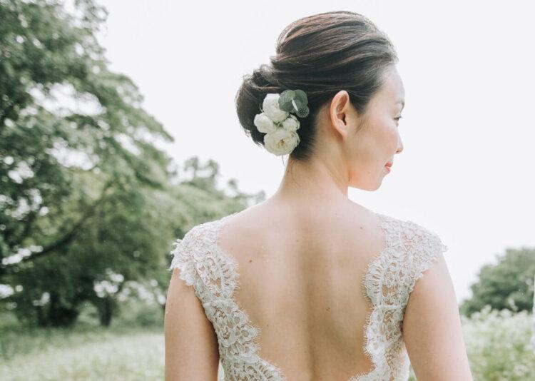 花嫁に人気のクラシカルヘア!フォトウェディング映えするクラシカルヘアを紹介9