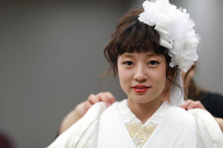 【長さ別】和装の花嫁に人気のフォトウェディングの髪型カタログ13
