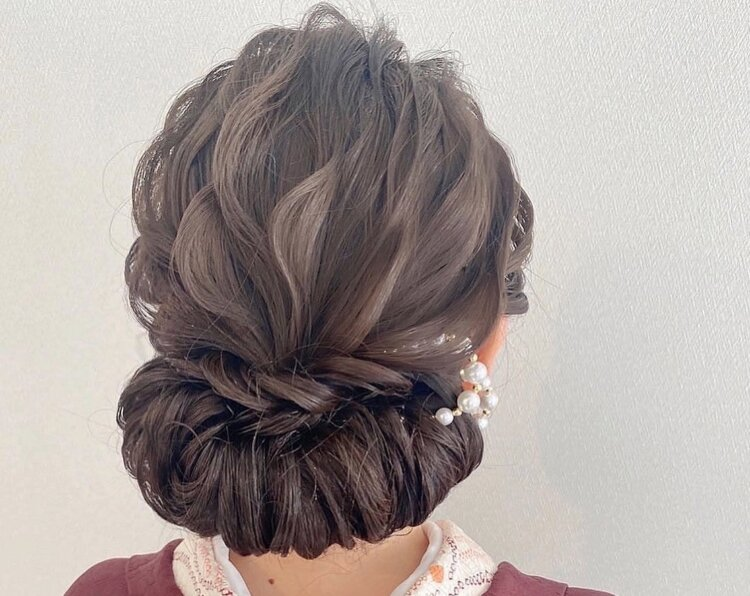 【長さ別】和装の花嫁に人気のフォトウェディングの髪型カタログ10