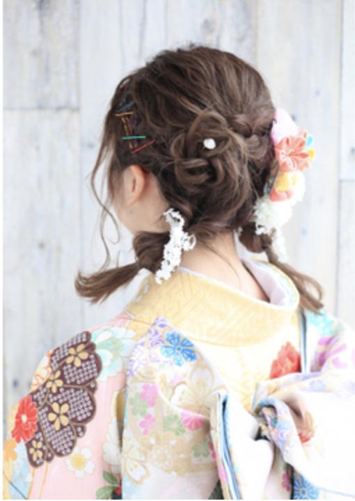 振袖×ボブなら髪型は?成人式写真で後悔しない髪型カタログ4