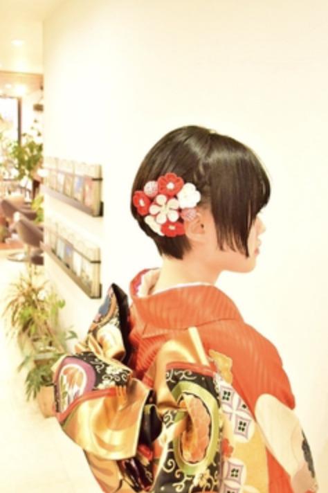 振袖×ボブなら髪型は?成人式写真で後悔しない髪型カタログ6