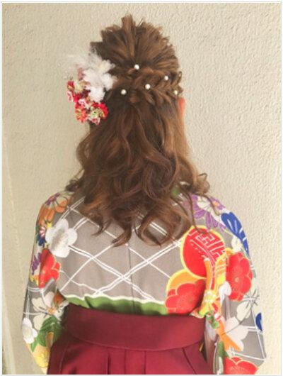 成人式写真のハーフアップアレンジとは?振袖に似合う髪飾りもご紹介3
