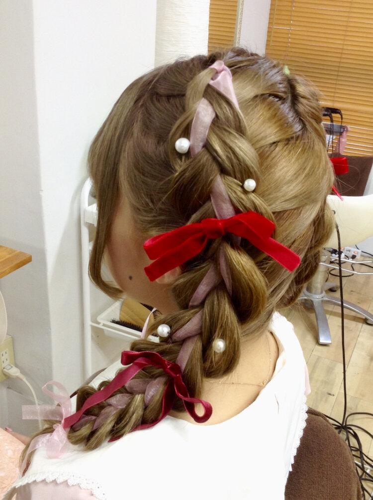 振袖の成人式写真を可愛くするツインテール!アレンジ方法と髪飾りをご紹介6