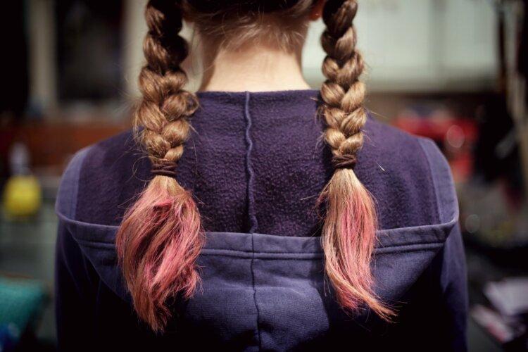七五三写真の髪型は三つ編みで可愛く!お家で簡単セット方法を紹介1