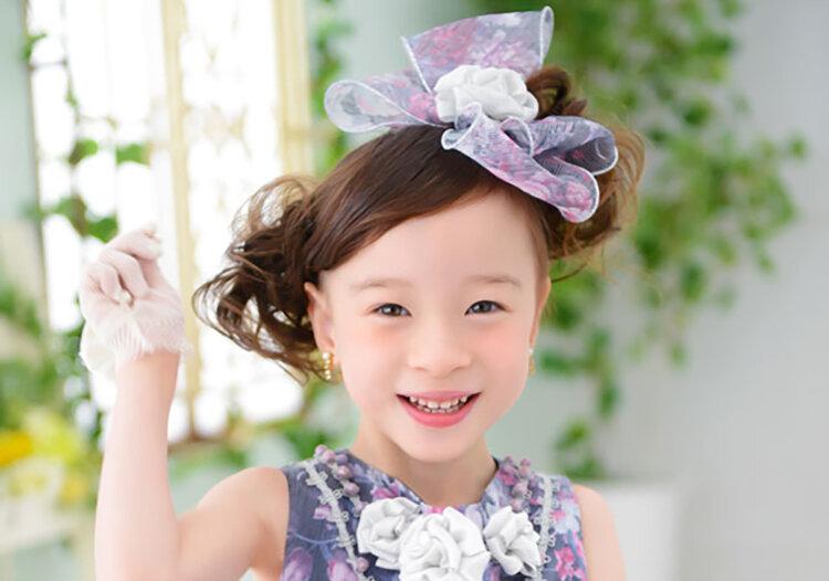 七五三のドレスに合う髪型は?お姫様になれる髪型のセット手順を解説3