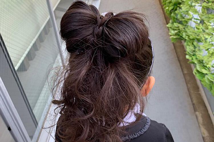 七五三のドレスに合う髪型は?お姫様になれる髪型のセット手順を解説6