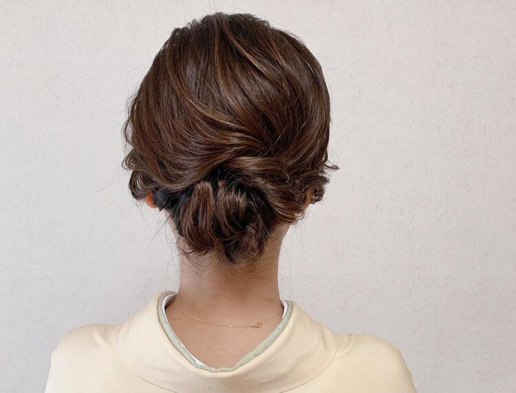 自分でできる!七五三写真のママの髪型を服装・長さ別にご紹介9