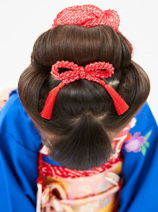 3歳の七五三写真の日本髪!桃割れと現代風の日本髪のセット方法を紹介3