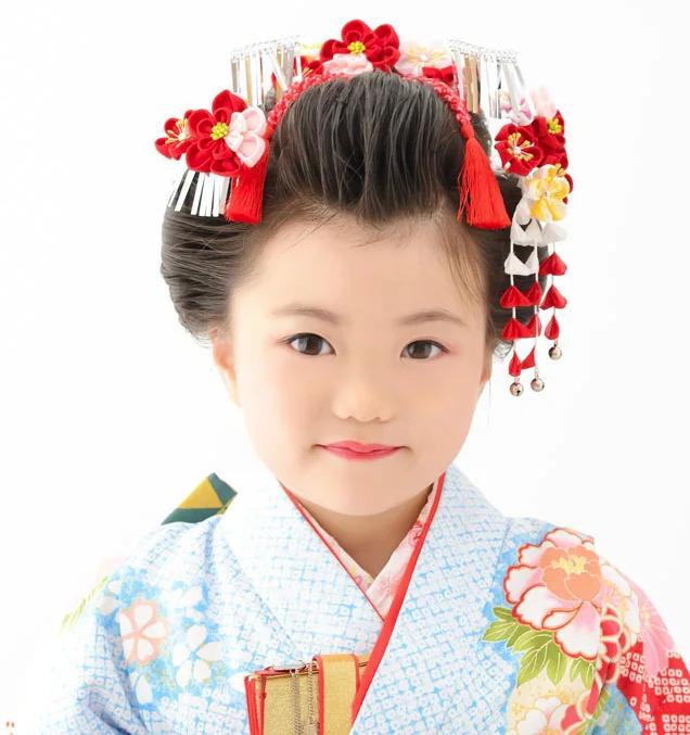 七五三写真の日本髪はお家でも結える!セット方法を詳しく解説5