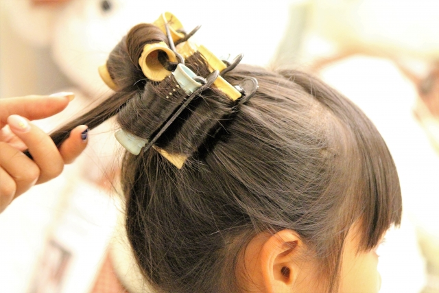 3歳の七五三写真の日本髪!桃割れと現代風の日本髪のセット方法を紹介9