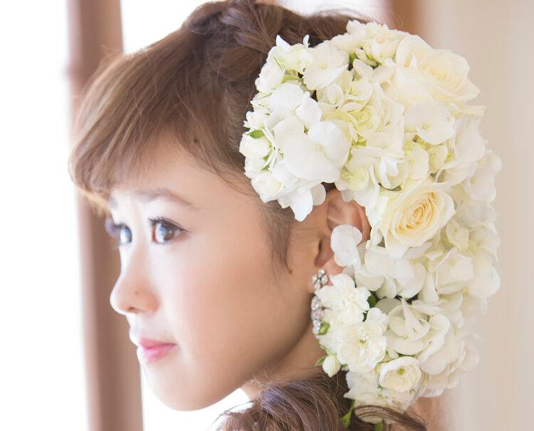 花嫁に人気の髪飾りをフォトウェディングを中心にご紹介!3