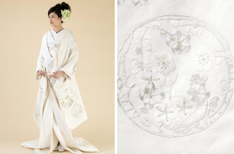 フォトウェディングの白無垢の違いは?色味・生地・織り方・柄から選ぶ15