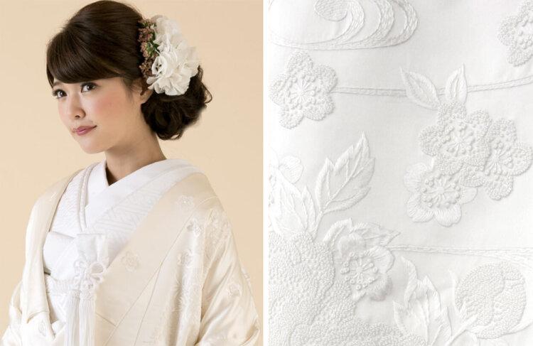 フォトウェディングの白無垢の違いは?色味・生地・織り方・柄から選ぶ17