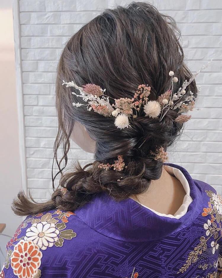 【人気】卒業写真に適した髪型を衣装別に解説!前髪や髪飾りも紹介9