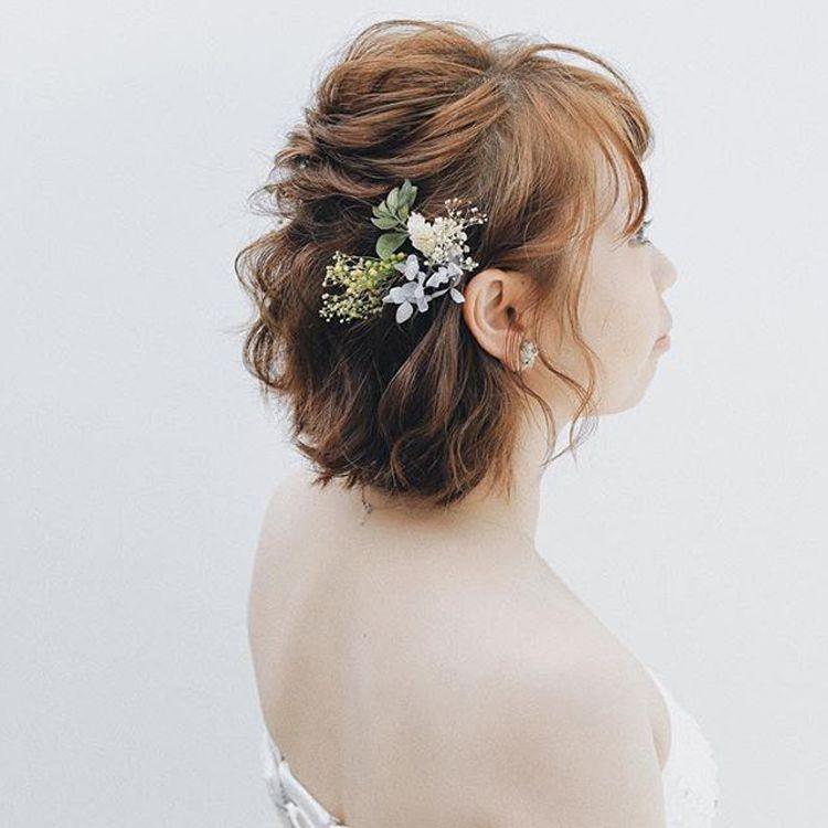 ショートの花嫁の髪型は?フォトウェディングで人気の髪型まとめ10