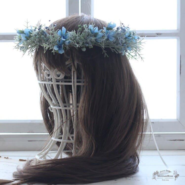 """フォトウェディングは""""花冠""""が人気!花の種類・花言葉・色・髪型を紹介20"""