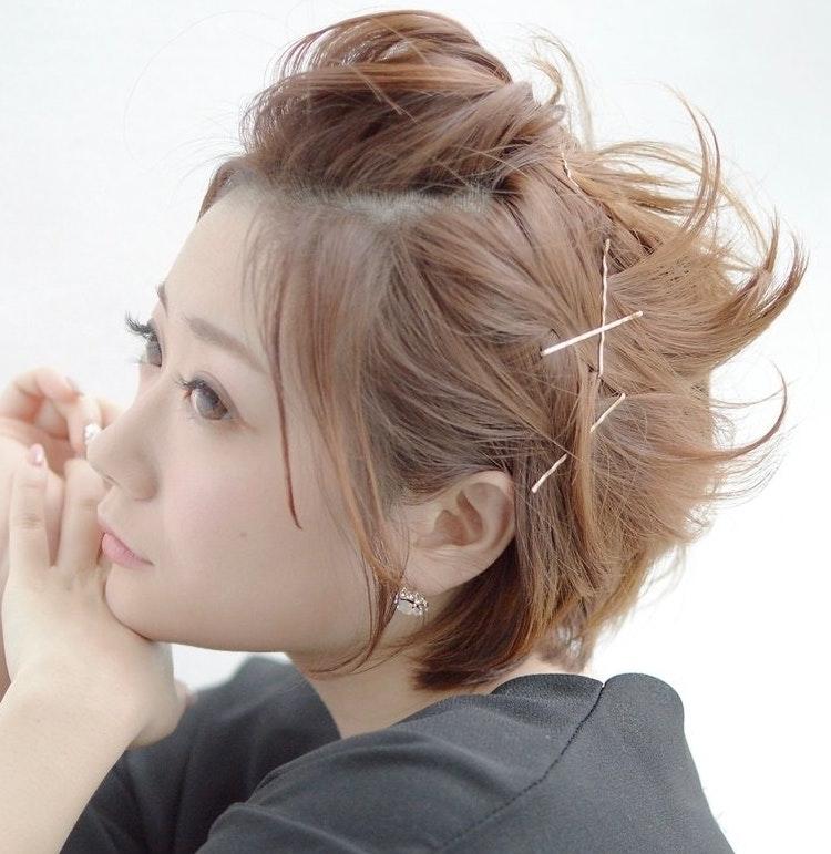 前髪アップ×振袖で成人式写真を華やかに!自分でできるセット方法を丁寧に解説10