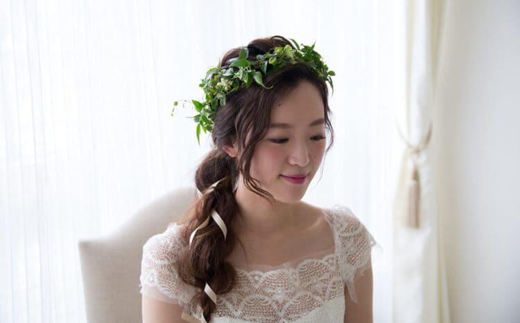 """フォトウェディングは""""花冠""""が人気!花の種類・花言葉・色・髪型を紹介12"""