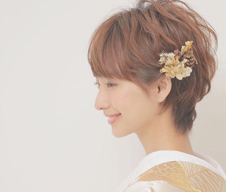 ショートの花嫁の髪型は?フォトウェディングで人気の髪型まとめ7