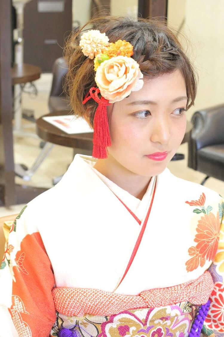 【人気】卒業写真に適した髪型を衣装別に解説!前髪や髪飾りも紹介5