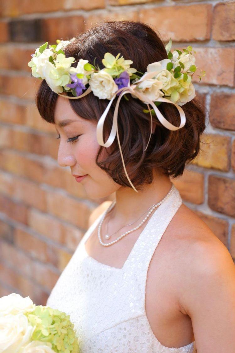 ショートの花嫁の髪型は?フォトウェディングで人気の髪型まとめ14