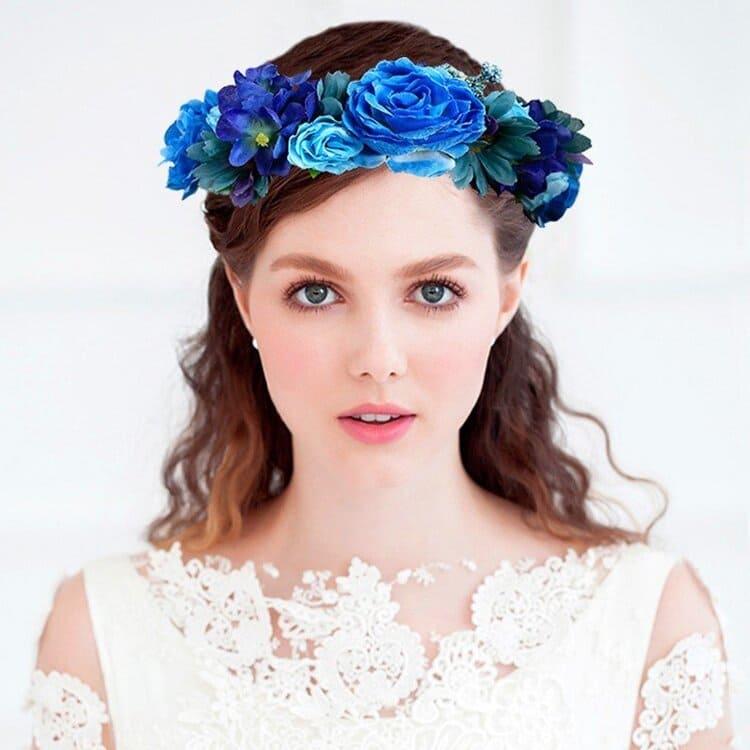 """フォトウェディングは""""花冠""""が人気!花の種類・花言葉・色・髪型を紹介16"""