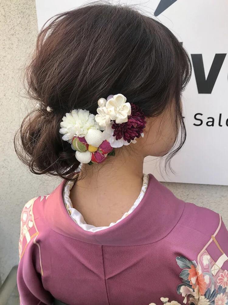 【人気】卒業写真に適した髪型を衣装別に解説!前髪や髪飾りも紹介8
