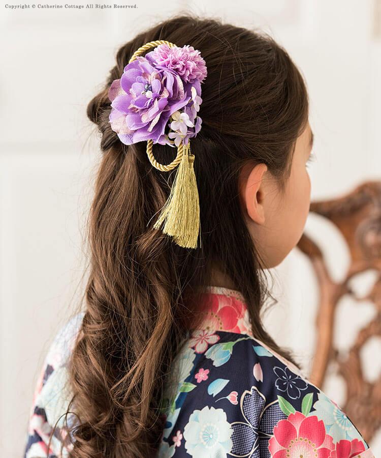 ミディアムヘアの七五三写真の髪型をご紹介!お家で簡単セット方法も伝授3