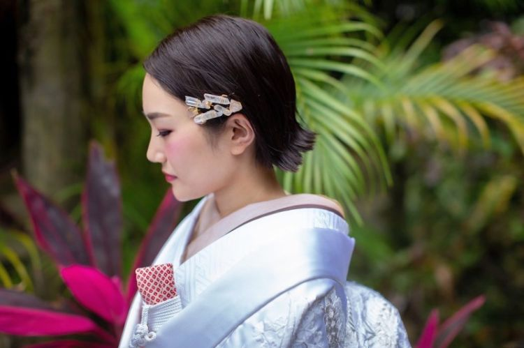 ショートの花嫁の髪型は?フォトウェディングで人気の髪型まとめ9