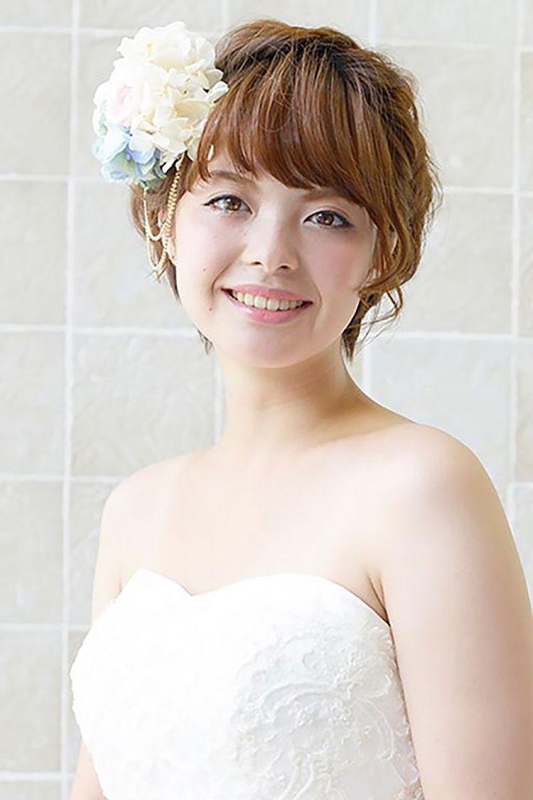 ショートの花嫁の髪型は?フォトウェディングで人気の髪型まとめ6