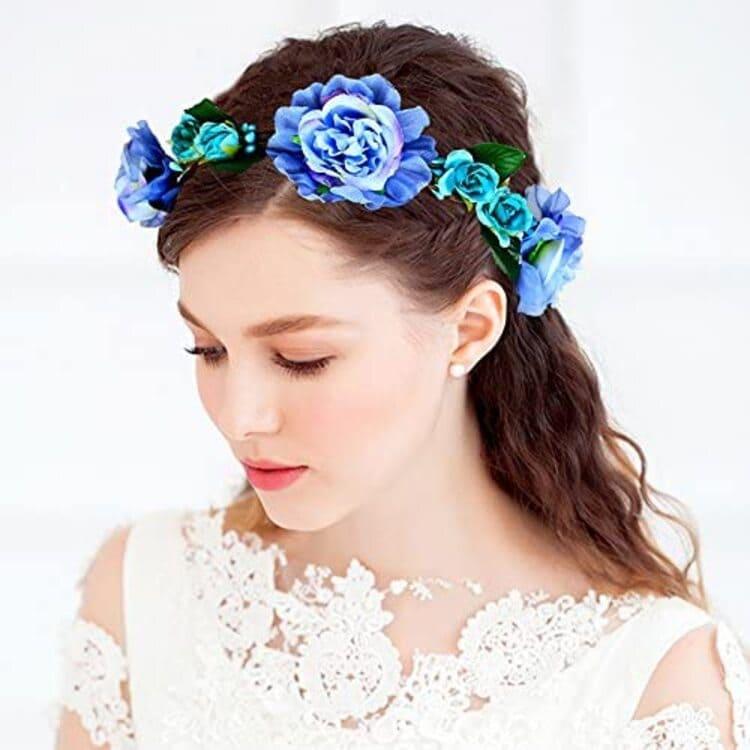 """フォトウェディングは""""花冠""""が人気!花の種類・花言葉・色・髪型を紹介10"""